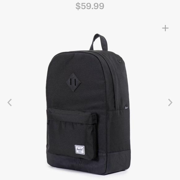 f3793f31913 Herschel Supply Company Handbags - Herschel Heritage Laptop Backpack Black  on Black